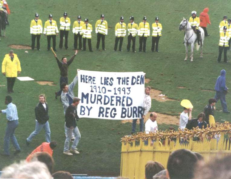 Note of Protest, last game at The Den