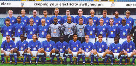 (Back Row) Nethercott, Robinson, Dolan, Phillips, Ward, Sadlier, Rees, May, Tuttle, Ifill, Lawrence (Middle Row) Grogan, Elliot, Dunne, Booth, Gueret, Warner, Harpur, Sweeney, Livermore, Harris, Constantine (Front Row) Claridge, Odunsi, Ryan, Reid, Samba, Cahill, Bulll, Hearn, Lambu, Braniff