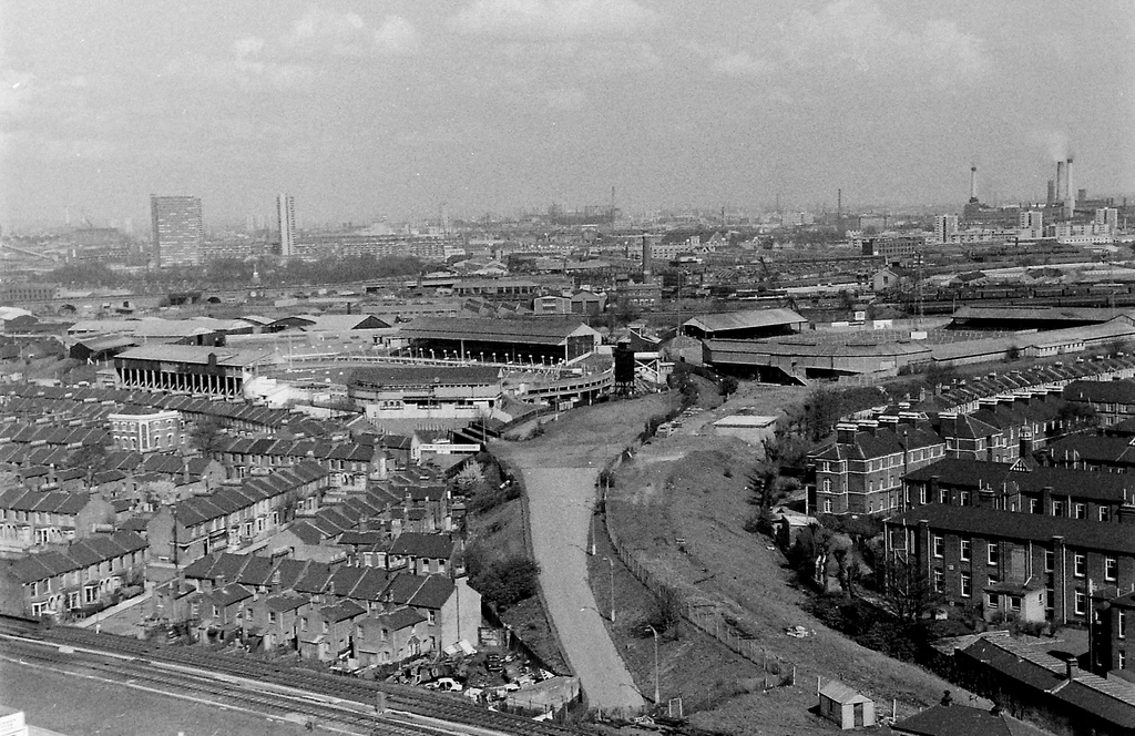 The Den April 1969 from Tunstin Estate Tower Block
