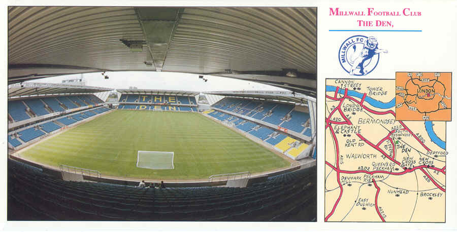 "Millwall sent out these ""We are moving"" postcards"